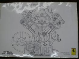 Mondial QV Engine Cutaway